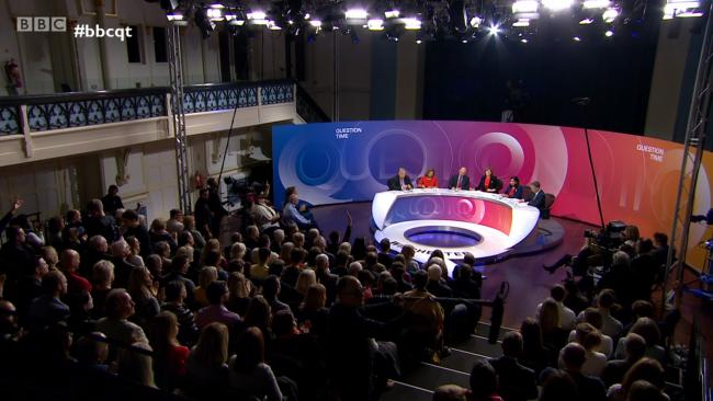 The episode of Question Time has been criticised for its representation of the town