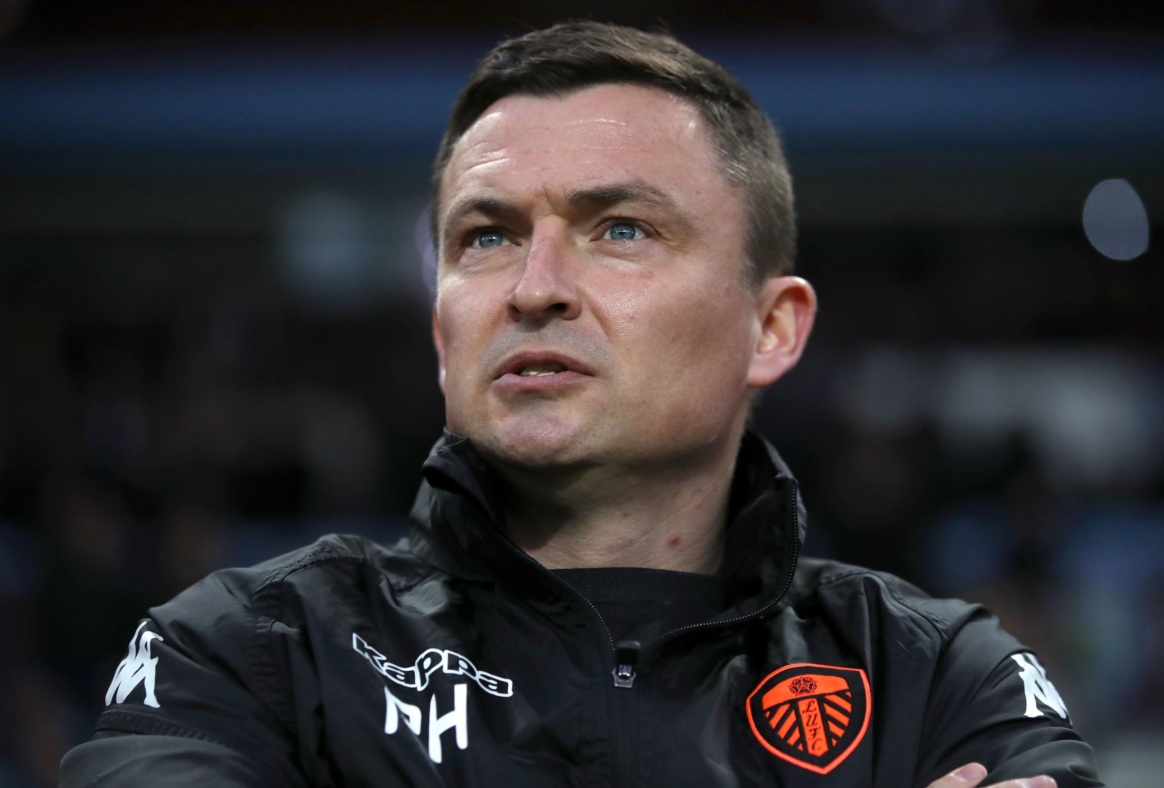 File photo dated 13-04-2018 of Leeds United manager Paul Heckingbottom during the Sky Bet Championship match at Villa Park, Birmingham. PRESS ASSOCIATION Photo. Issue date: Friday June 1, 2018 Leeds have sacked Paul Heckingbottom from his