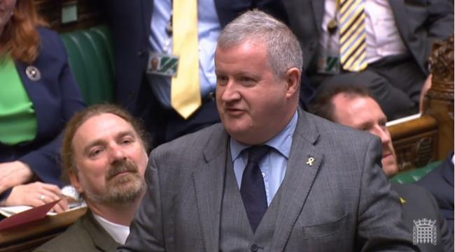 SNP Westminster leader Ian Blackford brought out a prop