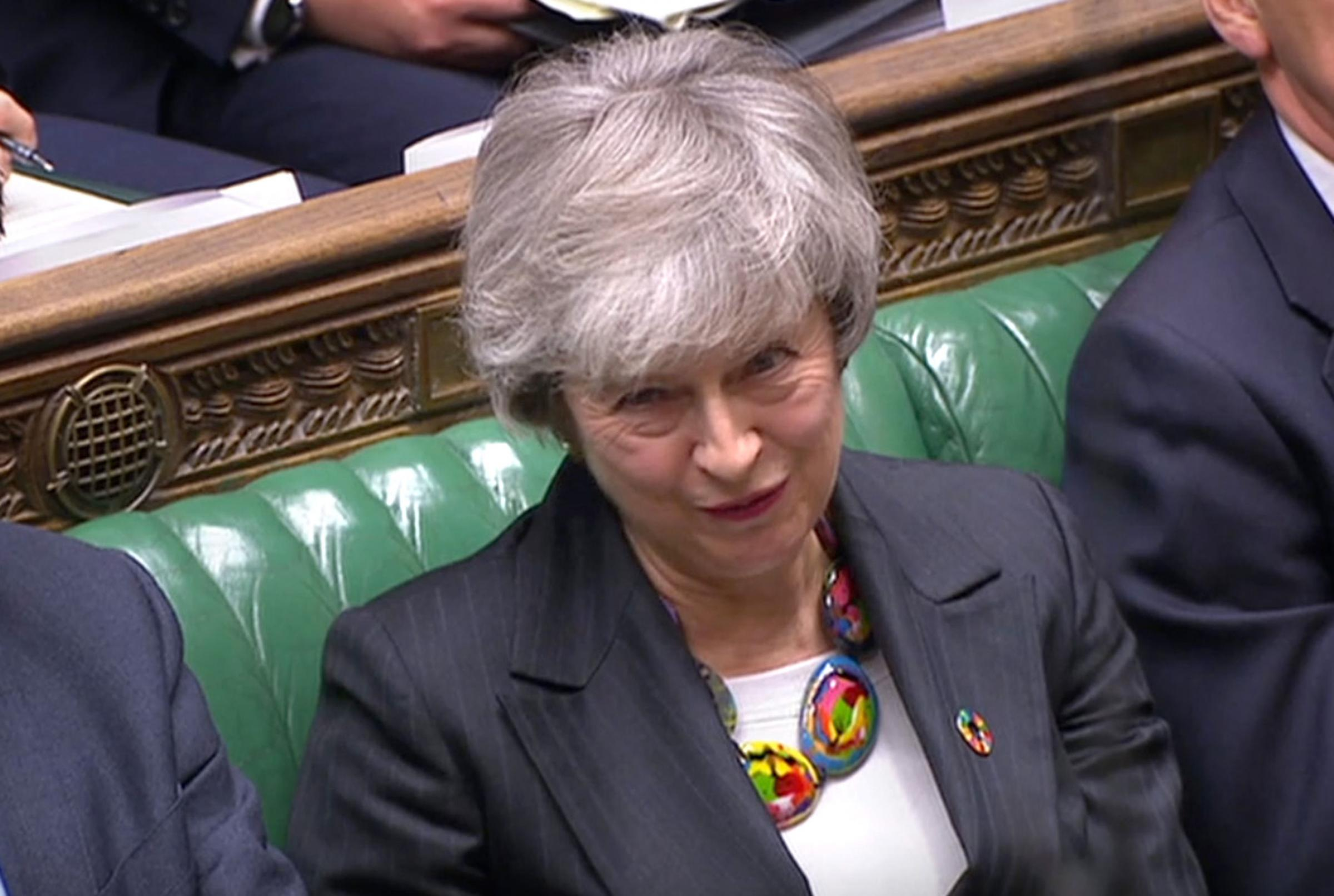 Prime Minister Theresa May made a nonsense claim during PMQs