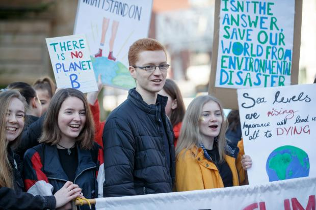 The National: Ross Greer at the Glasgow demonstrations. Photograph: Robert Perry