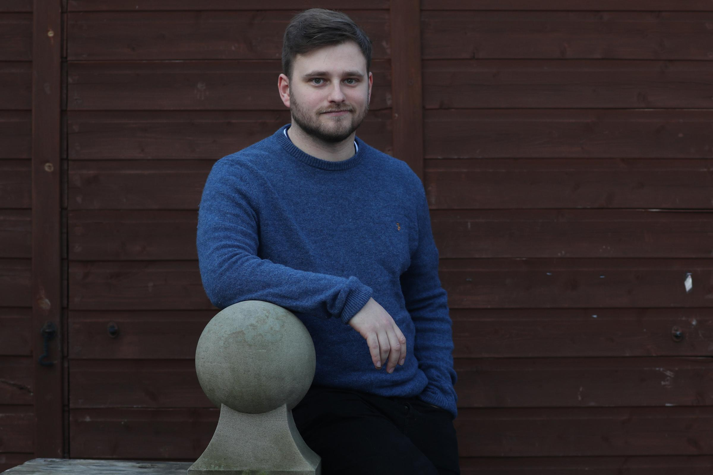 Michael Lambie is a 26-year-old stonemason from East Wemyss planning to relocate to Canada in the summer.