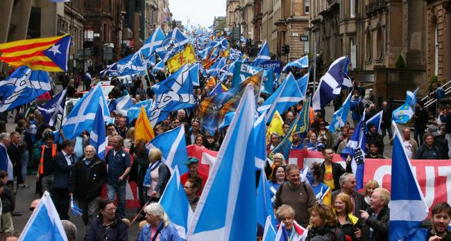 Tomorrow's All Under One Banner march in Glasgow will kick off a year of pro-indy events. Picture: Colin Mearns