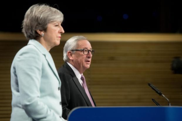 The National: Theresa May is meeting European Commission president Jean-Claude Juncker