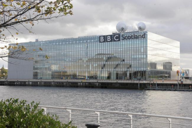 BBC Scotland building at Pacific Quay, Glasgow. Picture: Kirsty Anderson