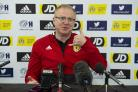 Scotland manager Alex McLeish speaks to the press