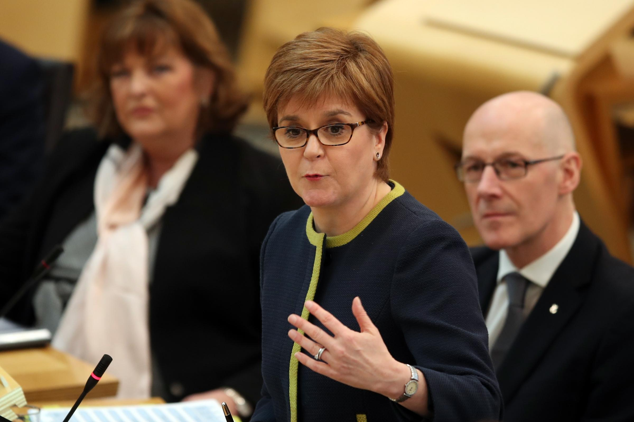 First Minister Nicola Sturgeon answered a question about indyref2 timing at FMQs