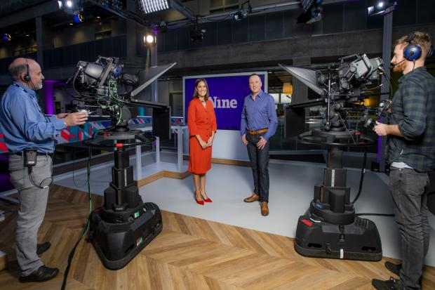 The Nine is flagship news show on the BBC Scotland channel