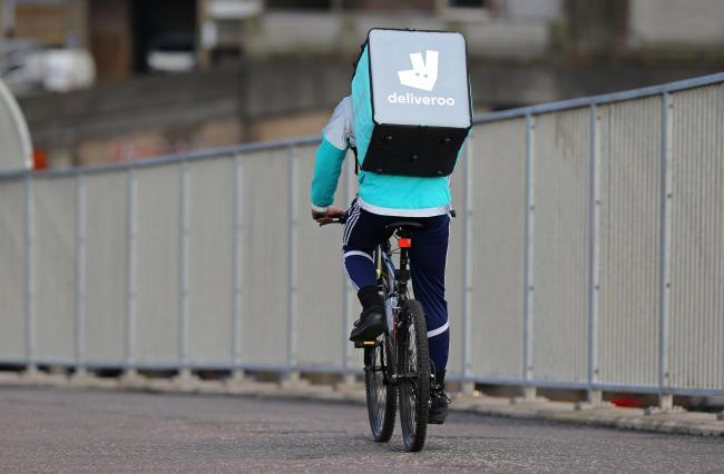 Deliveroo isnae a bad stopgap gin ye are atween jobs. Photograph: Colin Mearns