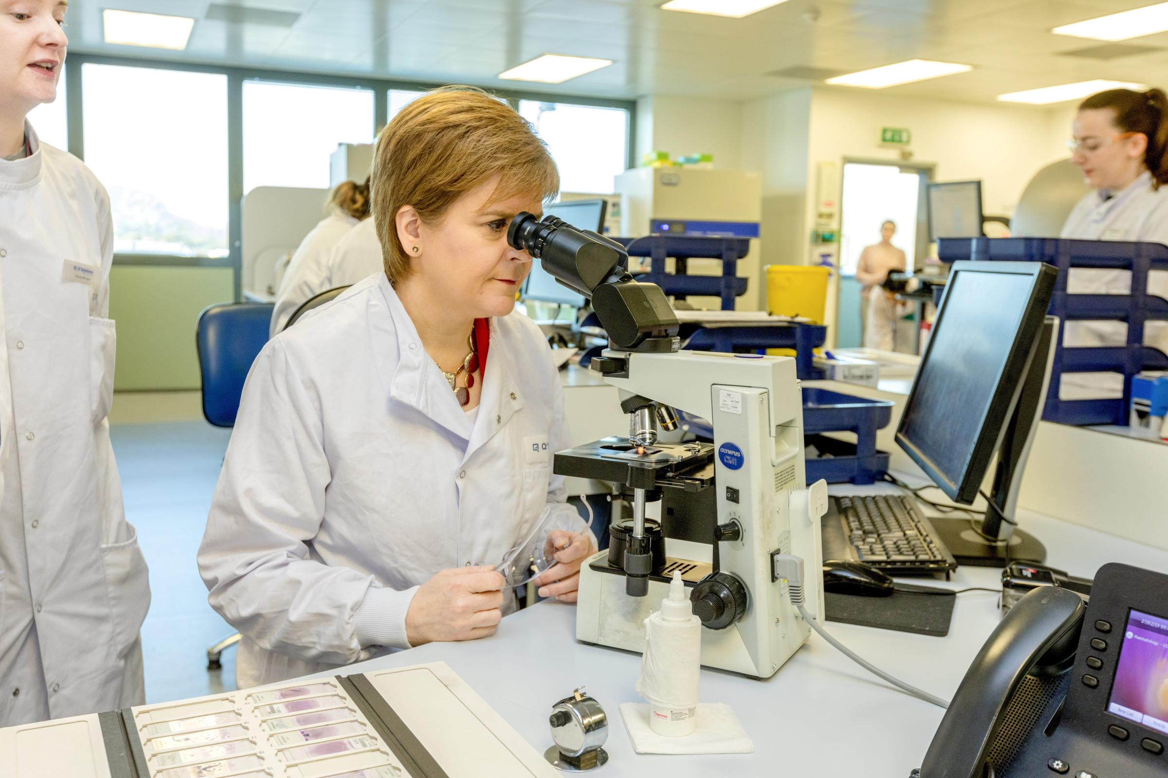 The First Minister visited the Scottish life sciences employer in Livingston