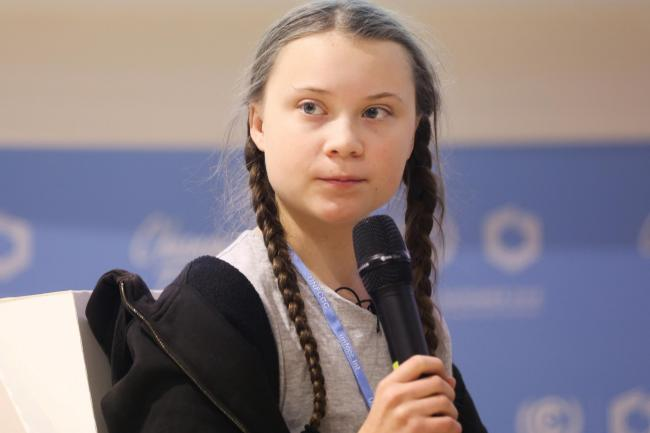 Swedish climate activist Greta Thunberg, who began the school strikes