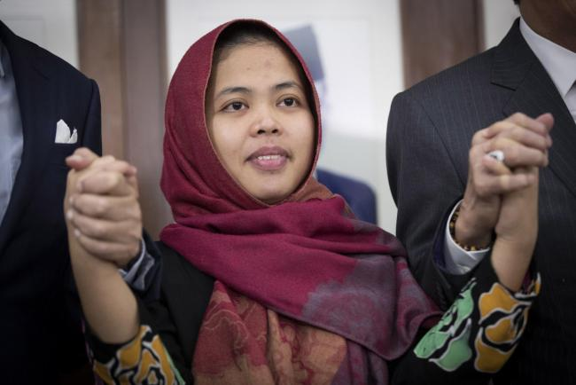 Indonesian Siti Aisyah was freed from custody after prosecutors unexpectedly dropped the murder charge against her