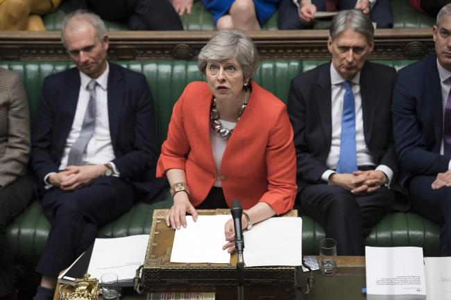 Theresa May confirmed MPs would be able to vote on a no-deal Brexit tonight