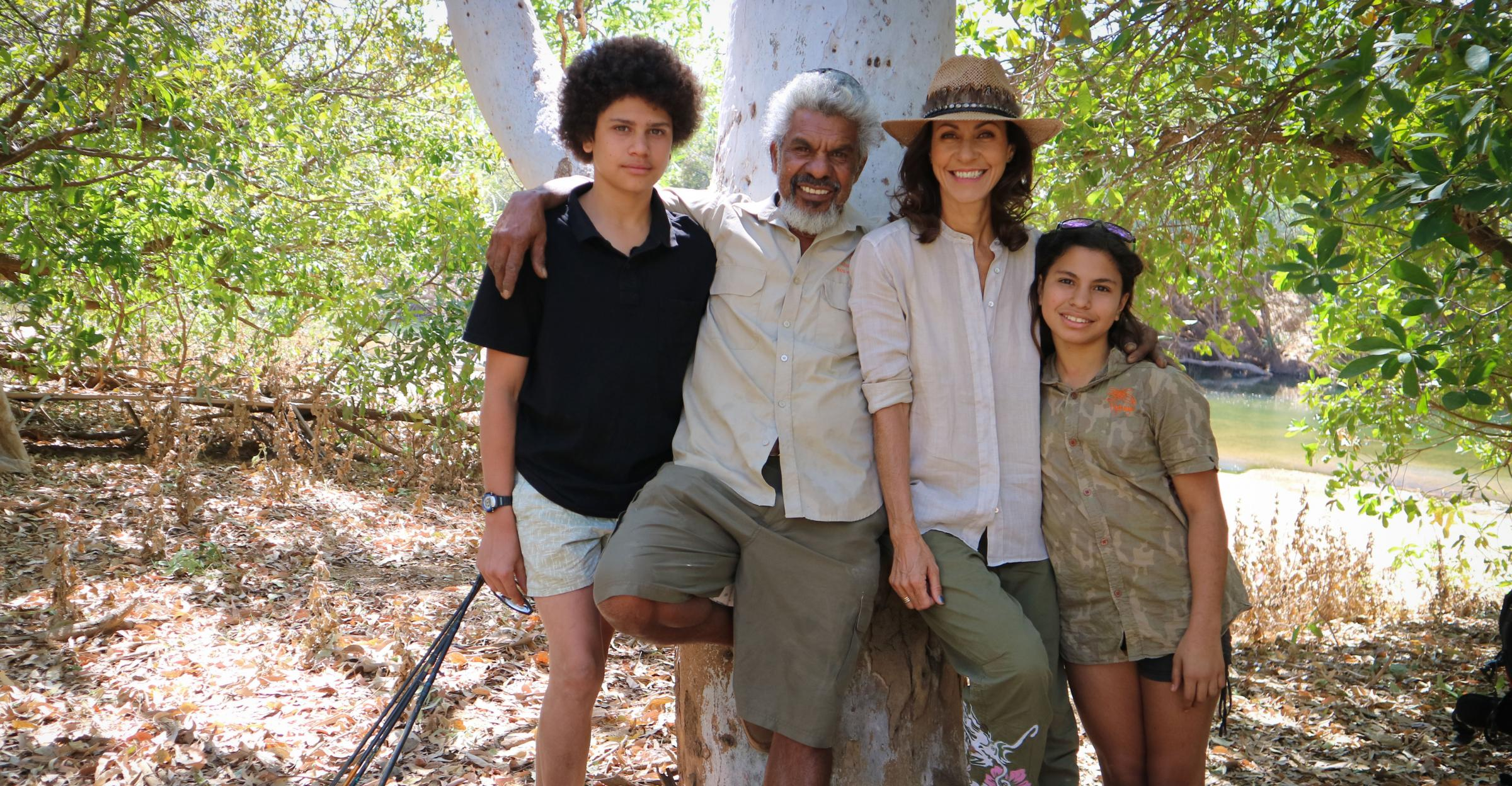 Julia Bradbury meets an Aboriginal family on her tour of Australia