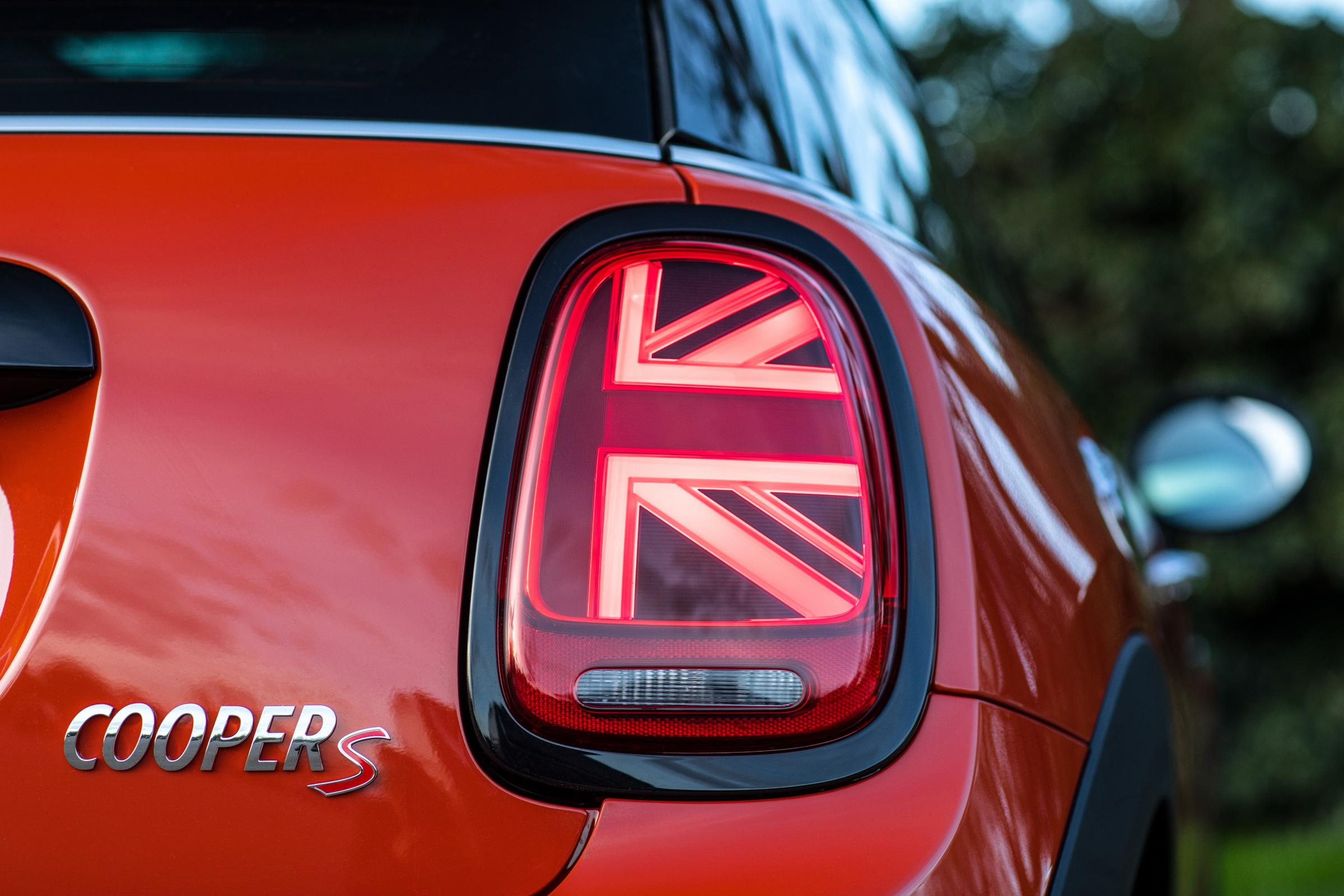 The tail lights on the mini range have a Union Jack design