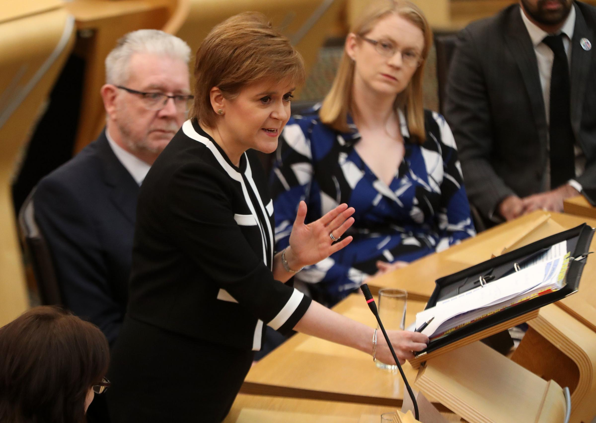 First Minister Nicola Sturgeon agreed with the point being made – but had a clarification to offer