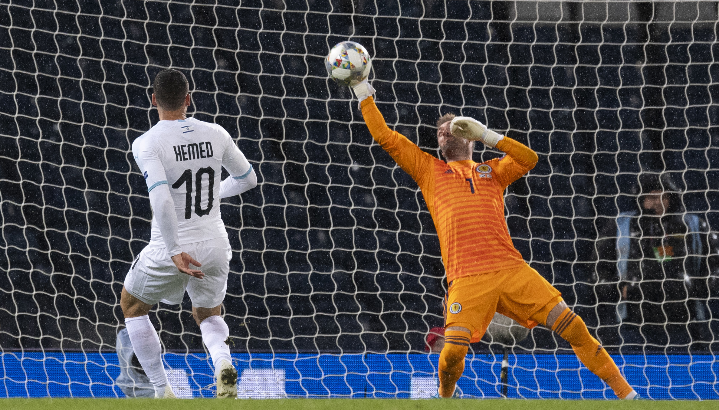Allan McGregor's last action in a Scotland jersey was this crucial save against Israel.