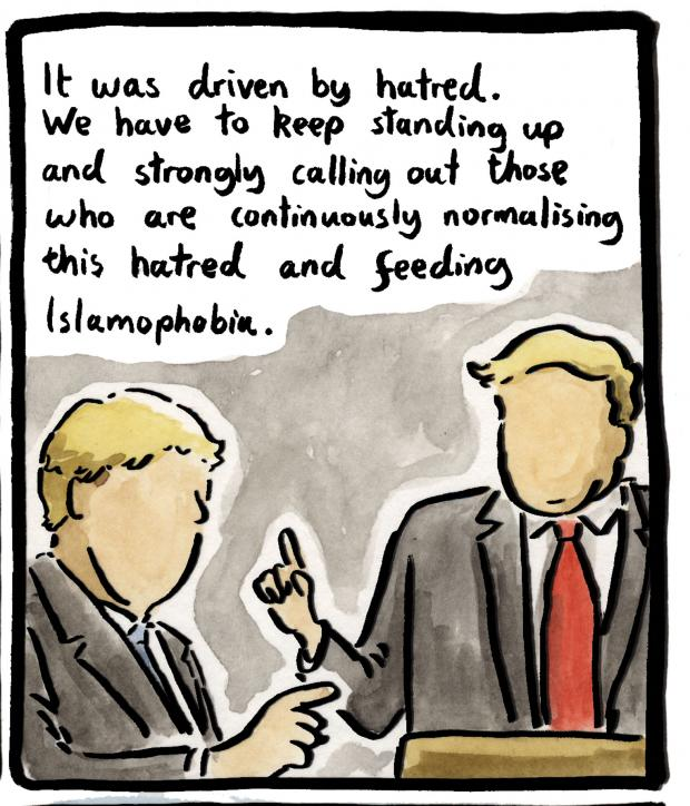 The Slorance Sketch: Scots stand in solidarity with Muslim