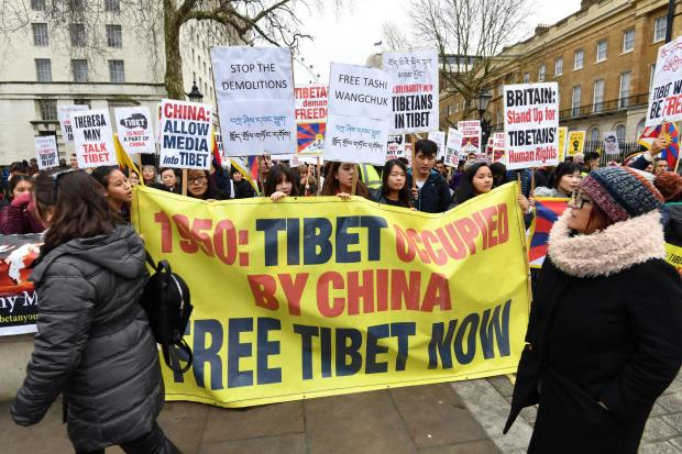 The National: Protests to free Tibet still take place – but with less publicity from celebrities