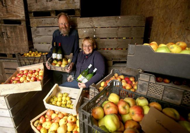 Jackie and Lorna Fleming of Laprig Valley fruit farm in the Scottish Borders
