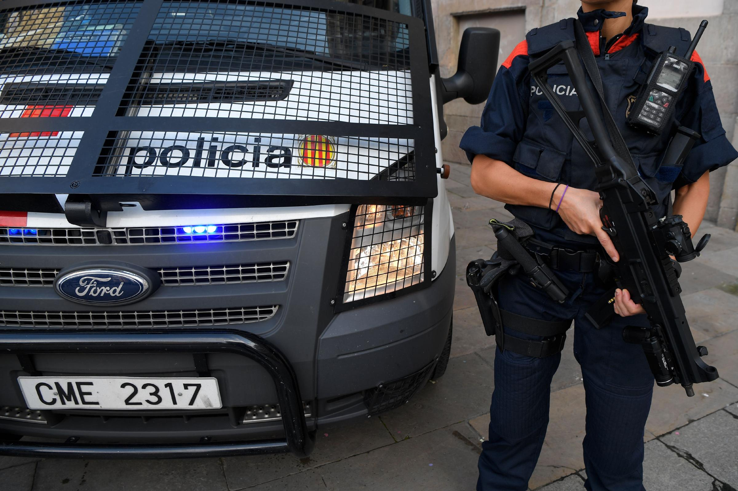 The Spanish Guardia Civil officers had their identities hidden as they gave evidence