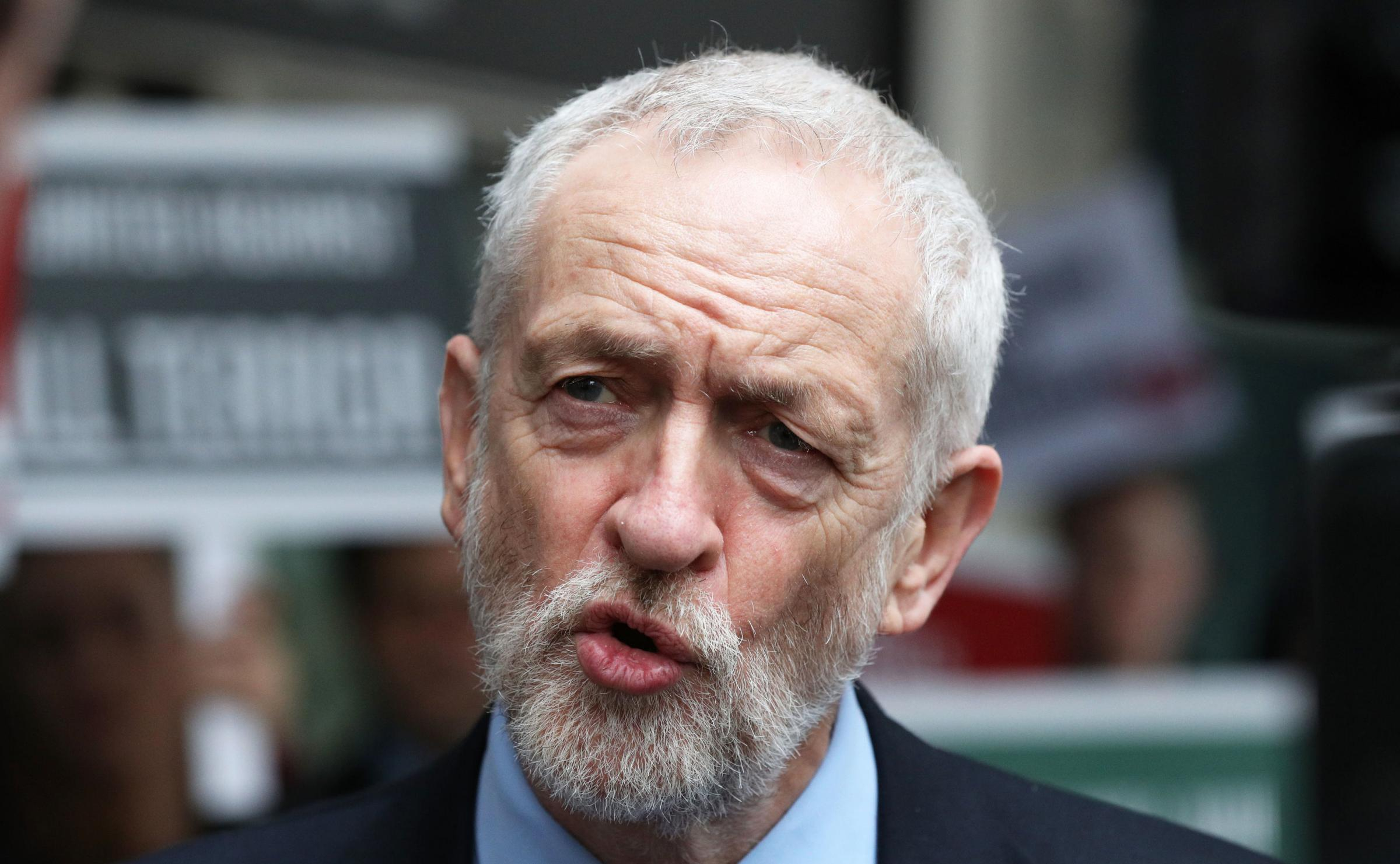 Jeremy Corbyn flounced out of Brexit talks