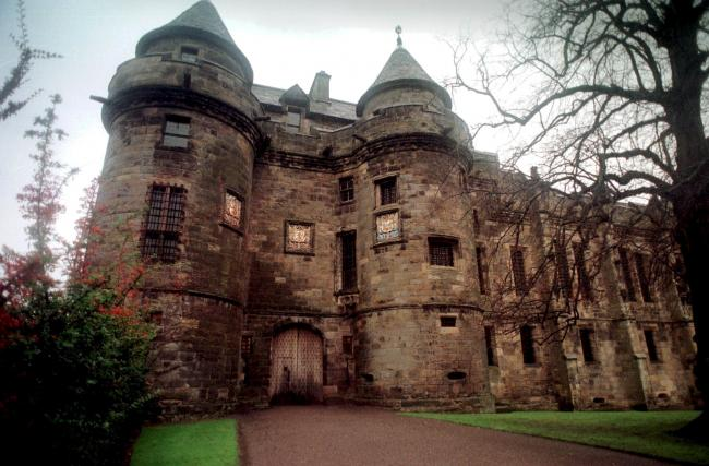 Falkland Palace, where David Stewart was imprisoned