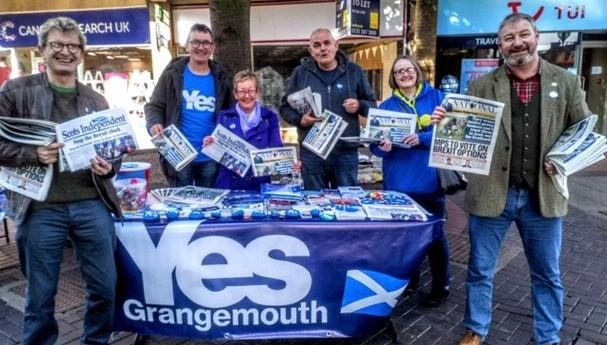 Yes Grangemouth handed out 465 free copies of the paper