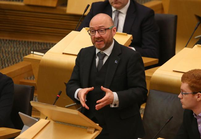 Scottish Green co-convenor Patrick Harvie has tabled a motion calling on the UK Government to cancel Brexit. Photograph: Gordon Terris