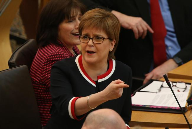 Nicola Sturgeon enjoyed herself at First Minister's Questions