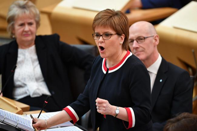 Nicola Sturgeon is due to speak at Holyrood this afternoon