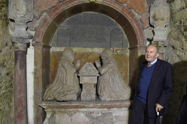 Descendant Frances Hamilton was 'delighted' with the 17-century tomb's restoration. Photo: Mike Scott