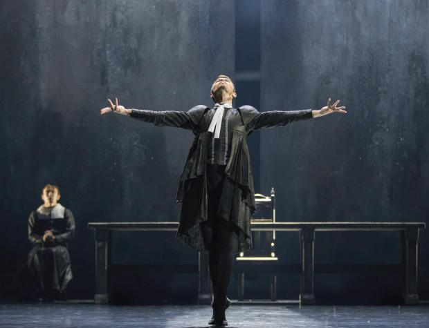 The National: Christopher Harrison in Scottish Ballet's production of Helen Pickett's The Crucible. Photograph: Andy Ross