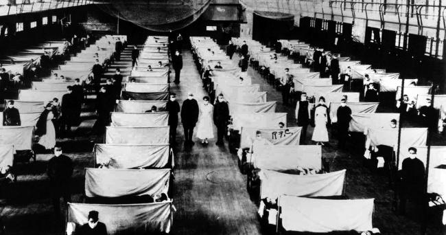 Warehouses were converted to keep the infected people quarantined
