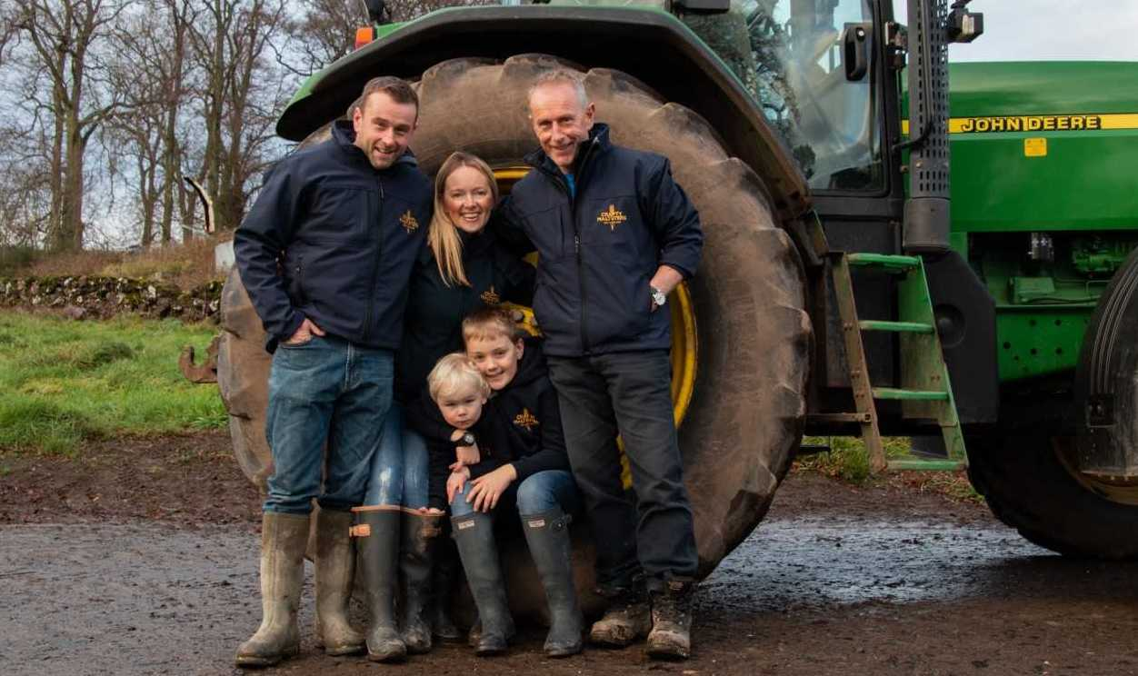 Crafty Maltsters owner Alison Milne and her family