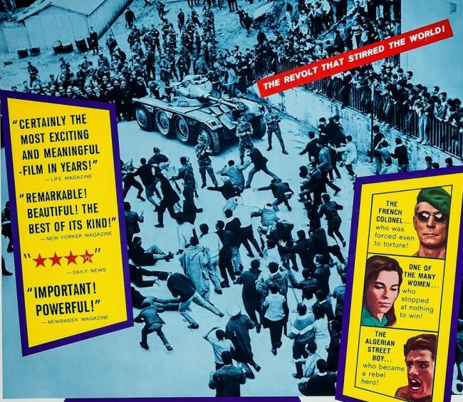 A poster for the 1966 movie The Battle Of Algiers