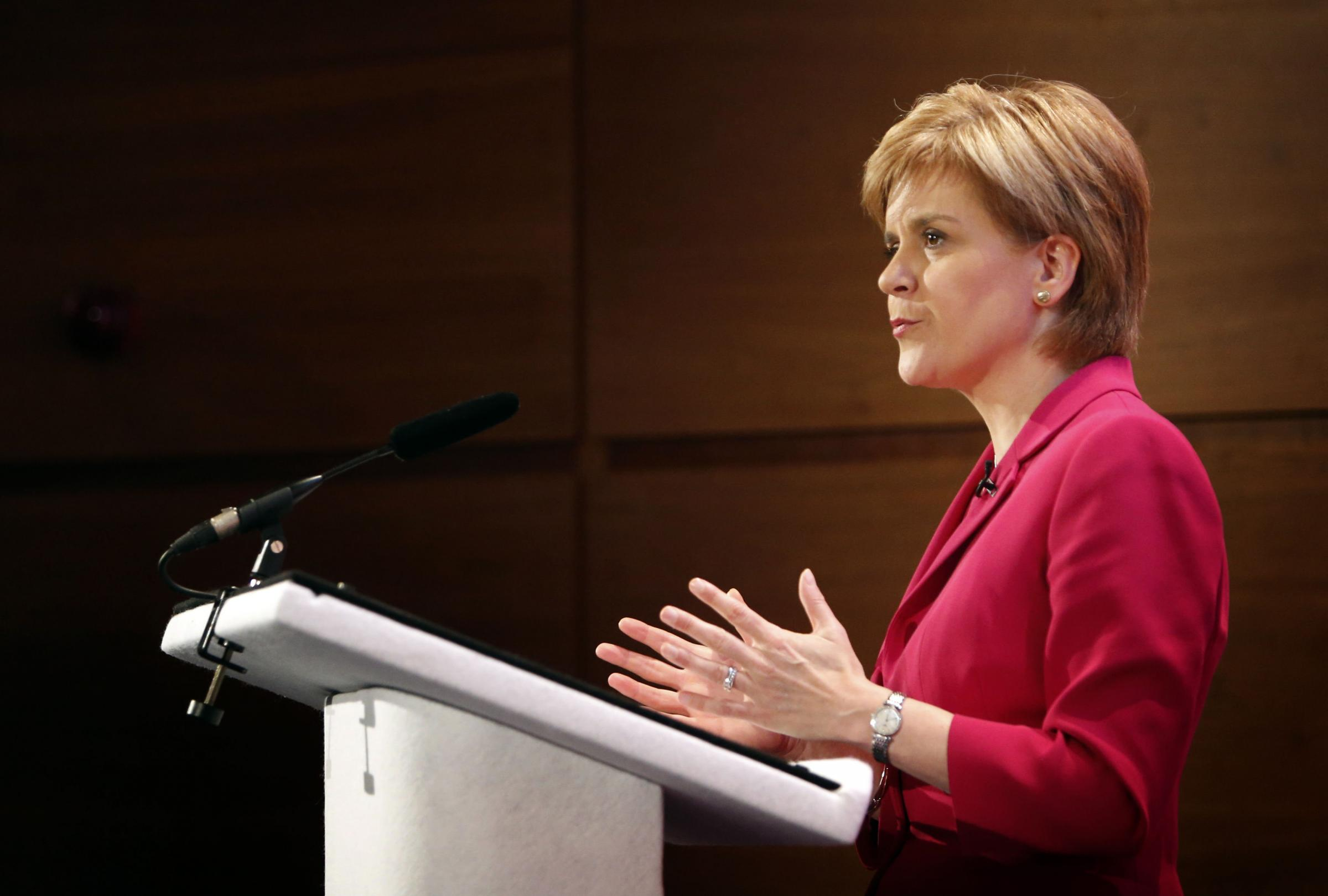 The First Minister will address MSPs after the Easter recess