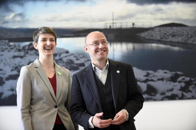 Scottish Greens co-convenors Patrick Harvie and Maggie Chapman face a leadership challenge. Photograph: Jane Barlow