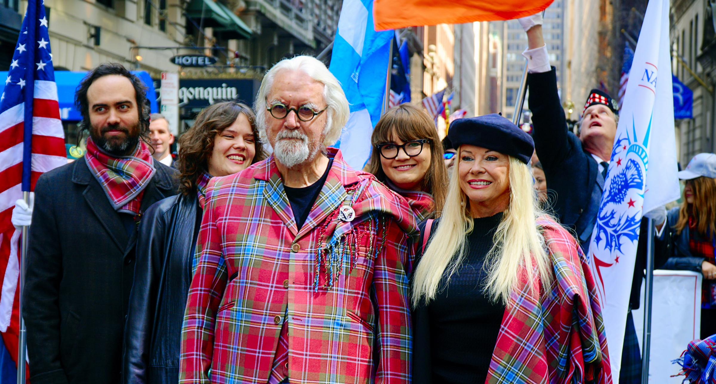 Sir Billy Connolly and his wife Pamela Stephenson led the annual march