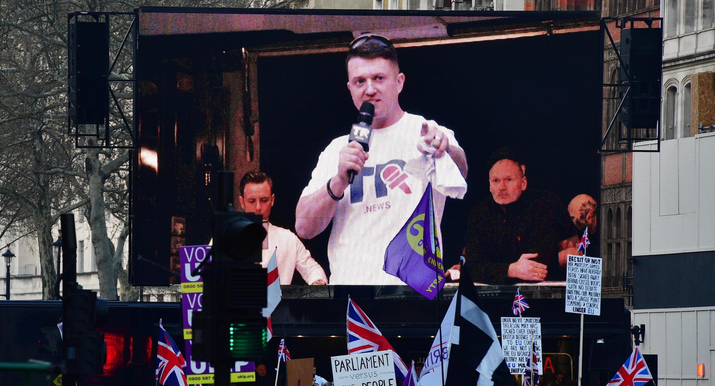 People like Tommy Robinson most loudly assert their freedom of speech is under threat