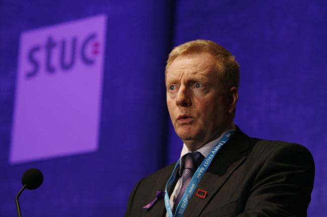 STUC general secretary Grahame Smith spoke after a meeting with Holyrood ministers