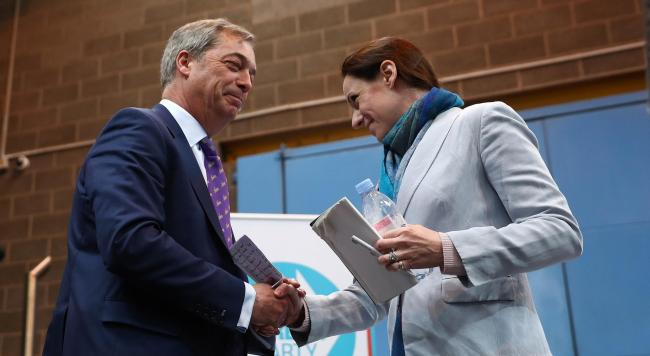 Nigel Farage welcomes Annunziata Rees-Mogg to the Brexit Party fold