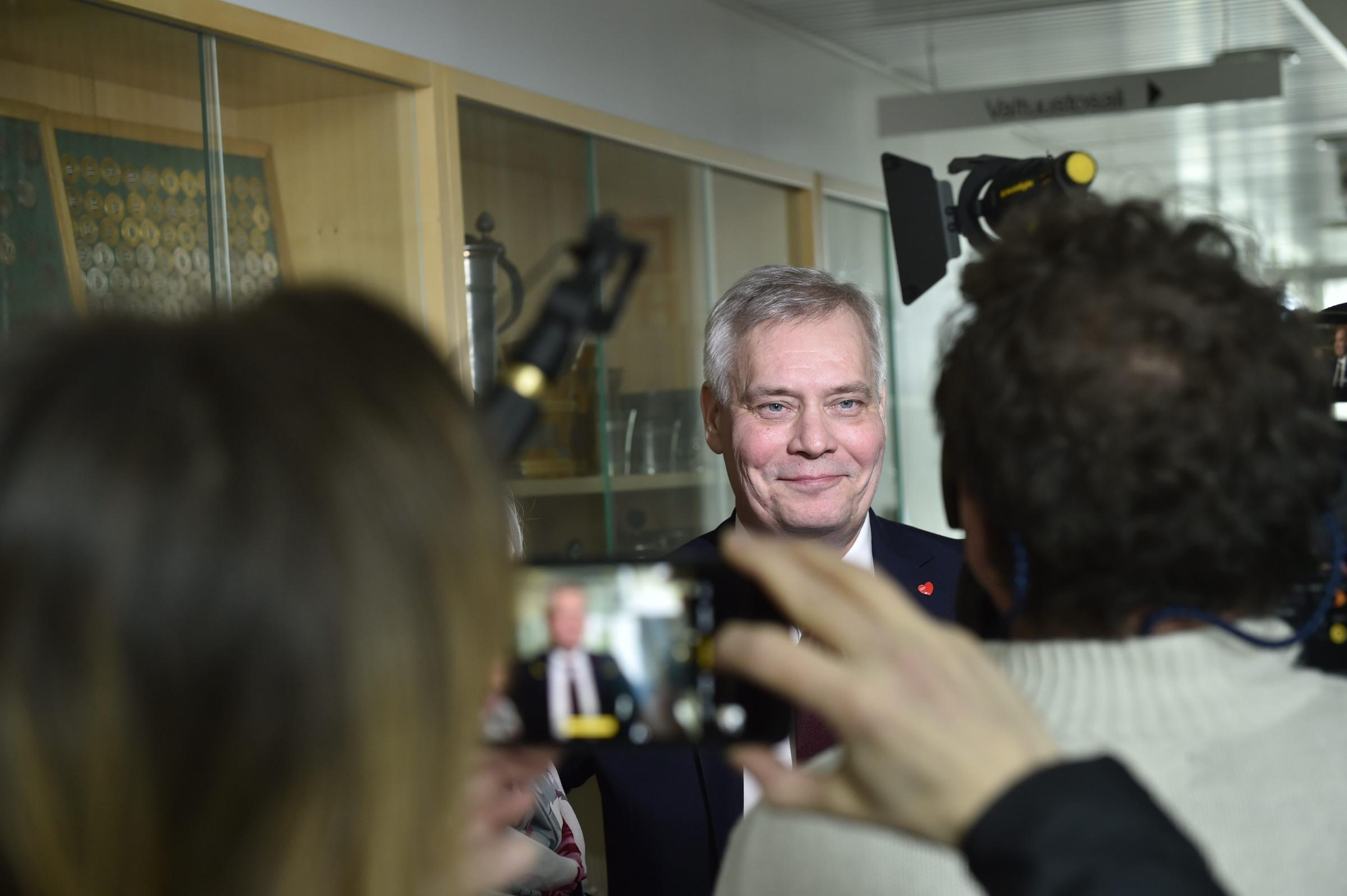 Antti Rinne, chairman of the centre-left Social Democratic Party, will be in for tough talks
