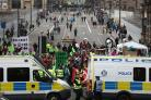 Police said 29 people were arrested after climate change protesters occupied Edinburgh's North Bridge, bringing traffic to a standstill.