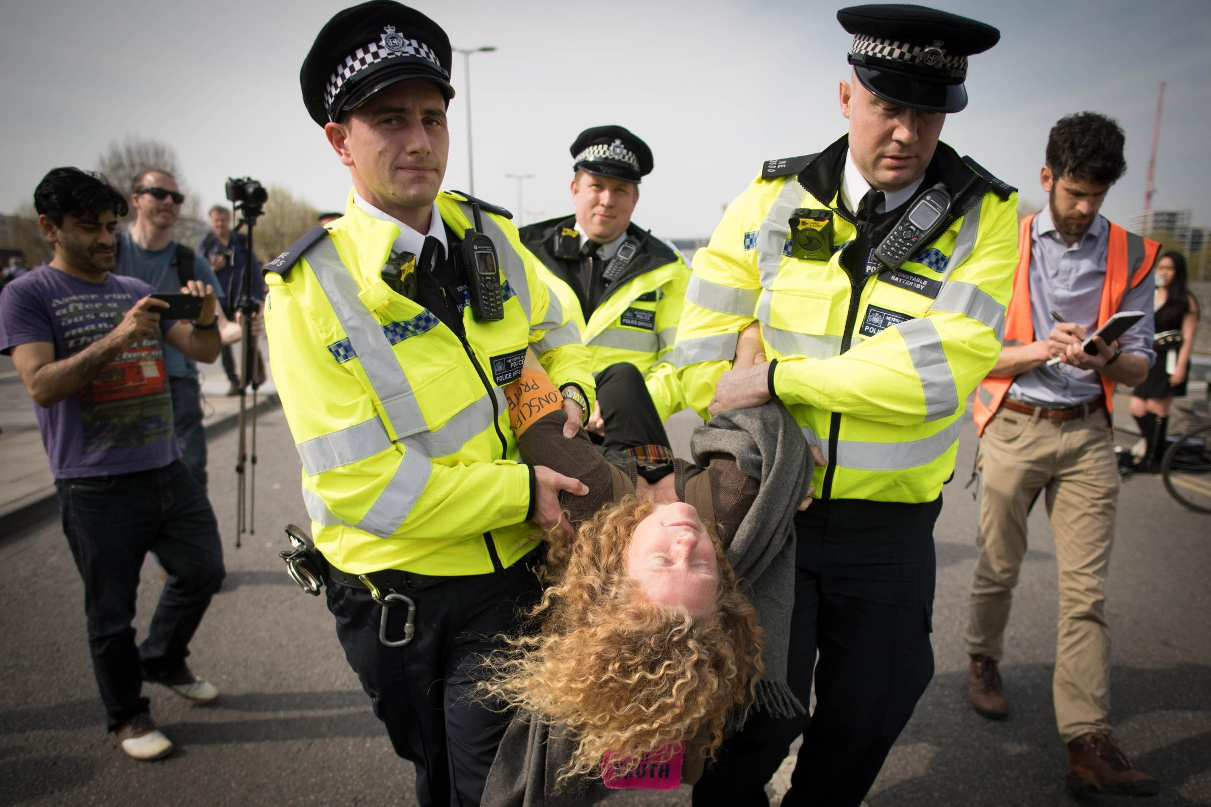 Over 1,000 arrested during climate change protests in London