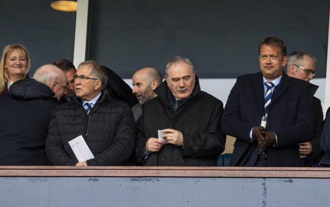 14/04/19 WILLIAM HILL SCOTTISH CUP SEMI-FINAL.ABERDEEN v CELTIC.HAMPDEN PARK - GLASGOW.SFA President Alan McRae, Rod Petrie and SFA Chief Executive Ian Maxwell.