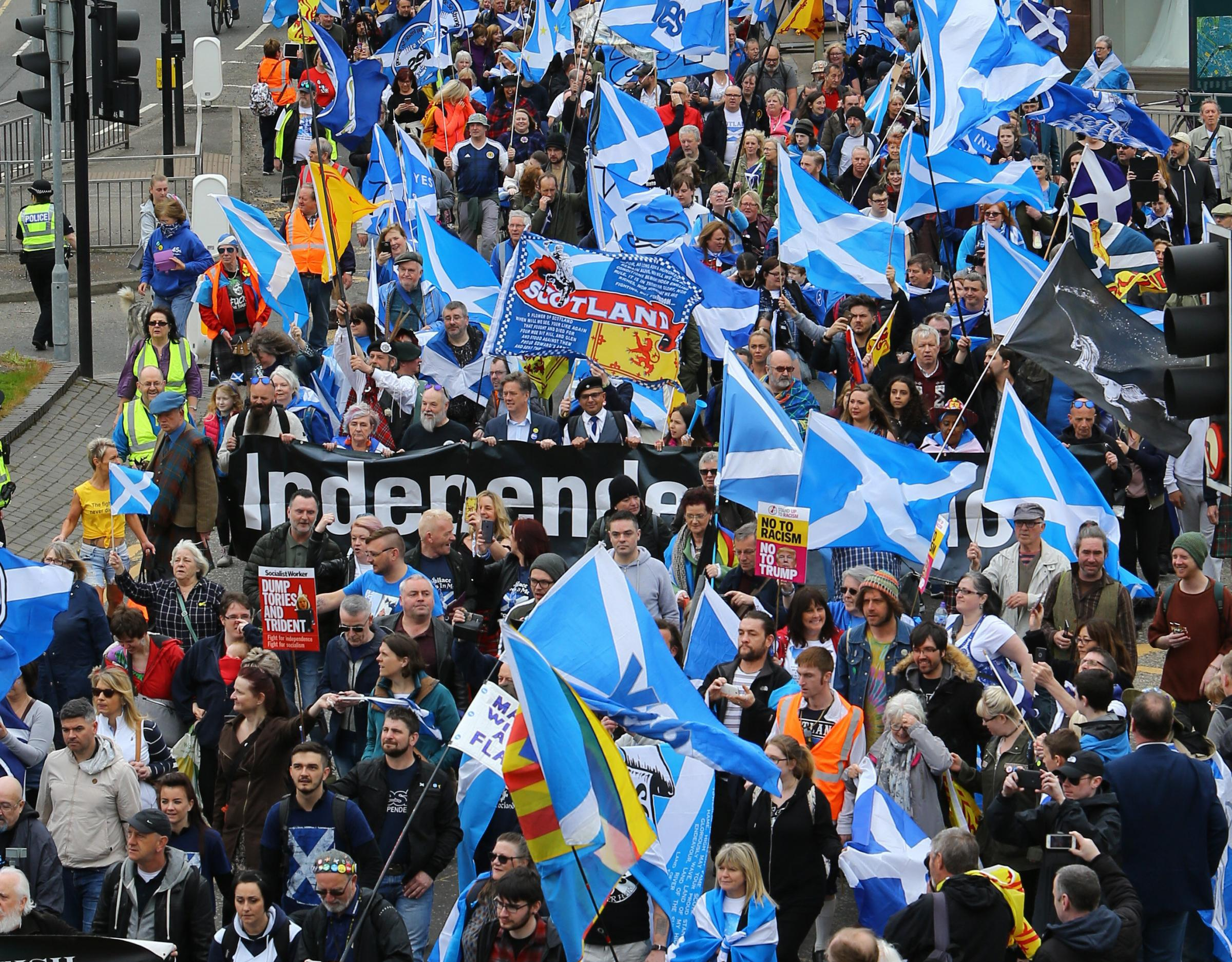 Are Yes marches really too big for the police to handle?