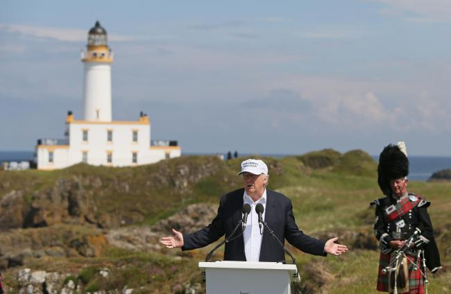 Donald Trump visited both Turnberry and Aberdeenshire during his previous visit to Scotland