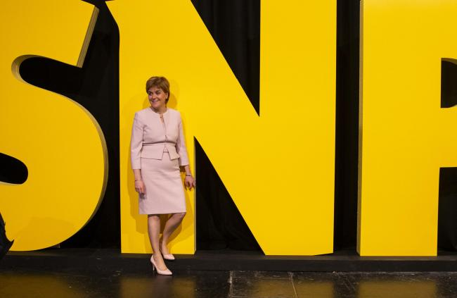 Nicola Sturgeon at SNP conference this spring