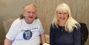 The National: Mike Blackshaw, pictured with Lesley Riddoch